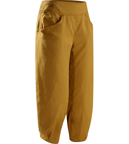 C'esta Capri Women's Lightweight, breathable, relaxed fit cotton/linen capri pants with a wide, comfort waistband and gathered, pleated cuffs. Ideal for casual urban use in hot weather, or while travelling.