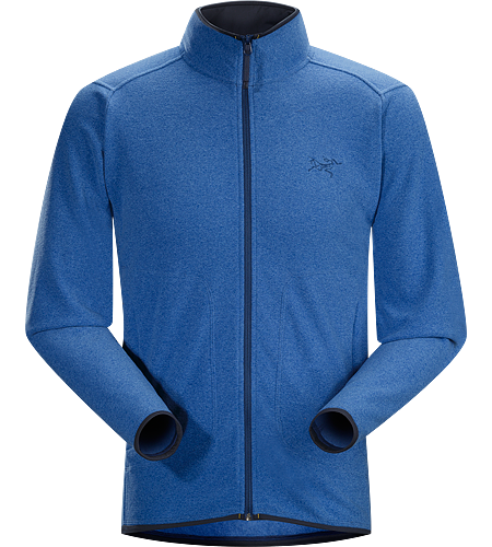 Caliber Cardigan Men's Relaxed fit fleece with casual styling and zippered hand pockets, constructed using a soft-to-the-touch Polartec® micro-fleece textile