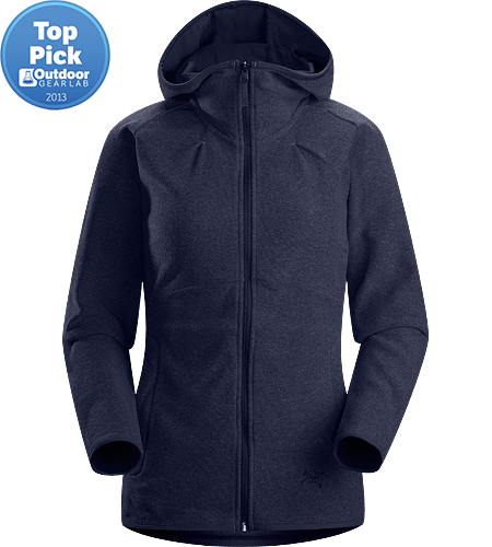 Caliber Hoody Women's Athletic fit fleece with casual styling, featuring a lined hood and zippered hand pockets and constructed using a luxuriously soft-to-the-touch Polartec® micro-fleece textile