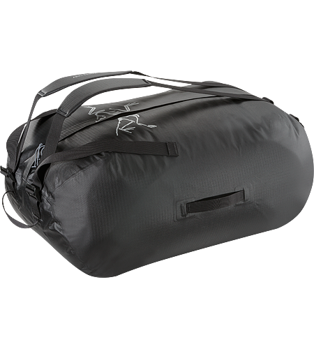 Carrier Duffle 100 Lightweight, highly water resistant, mid-size 98 litre duffle bag with removable, adjustable webbing shoulder straps.