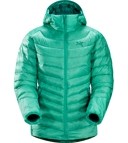Cerium LT Hoody Women's Down Series: Down insulated garments | LT: Lightweight. Streamlined, lightweight down hoody filled with 850 white goose down. This backcountry specialist hoody is intended primarily as a mid layer in cool, dry conditions.