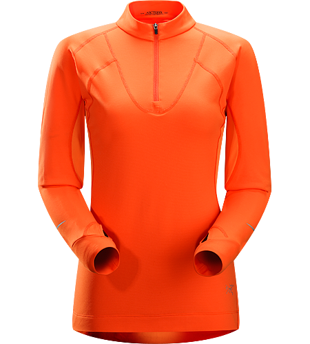 Cyclic Zip Neck Women's Mid-to-heavy weight, highly featured mid-layer with excellent moisture management properties constructed using two weights of Phasic™ textile for optimal temperature regulation. Ideal for trail running and high output activities.