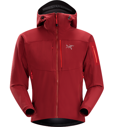 Gamma MX Hoody Men's Gamma Series: Softshell outerwear with stretch | MX: Mixed Weather. Breathable, wind-resistant, lightly insulated hooded jacket constructed with Fortius 2.0 textile for increased comfort and mobility