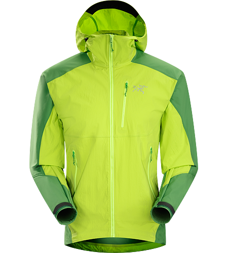Gamma SL Hybrid Hoody Men's Gamma Series: Softshell outerwear with stretch | SL: Superlight. Lightweight, durable wind and moisture resistant hoody constructed using two weights of softshell textile for enhanced mobility and breathability.