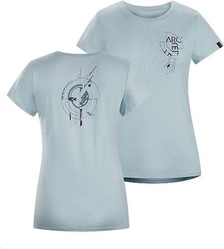 Gears T-Shirt Women's Lightweight, 100% cotton, short-sleeved T-shirt with illustrated graphic on the front