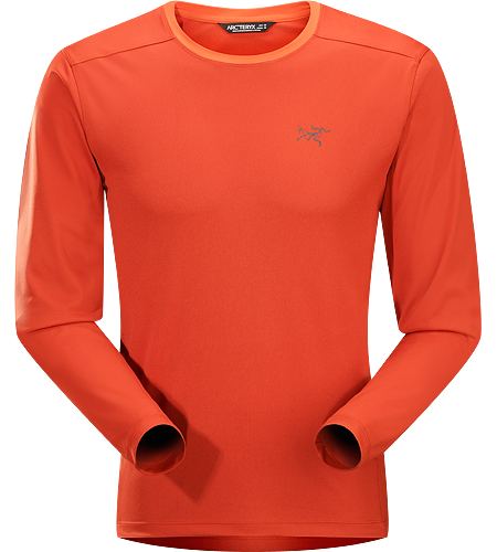 Iridine Crew LS Men's Heavyweight, hard wearing long sleeve technical shirt for cooler temperatures and rugged conditions