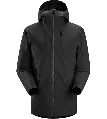 Khuno Parka Men's Long length insulated casual coat constructed with WINDSTOPPER® fabric paired with Coreloft™ insulation. Ideal for every day, cold weather use.