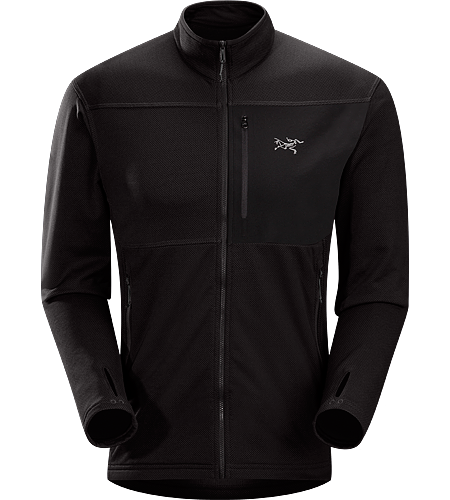 Konseal Jacket Men's Trim-fitting, midweight, climber's Polartec® Power Dry fleece midlayer that moves easily inside a shell.