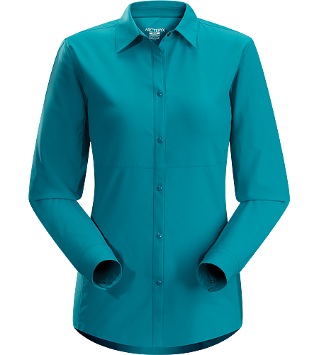 Libere Comp LS Women's Breathable, lightweight long sleeved shirt with sleeves that roll and secure in place for hotter weather.