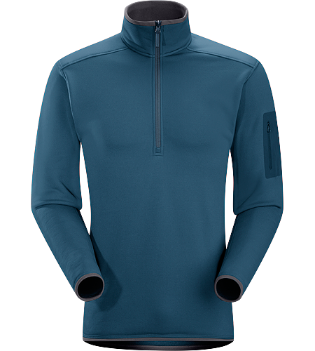 Lorum Zip Neck Men's Low profile, technical zip neck is an excellent mid-layer for hard working days.