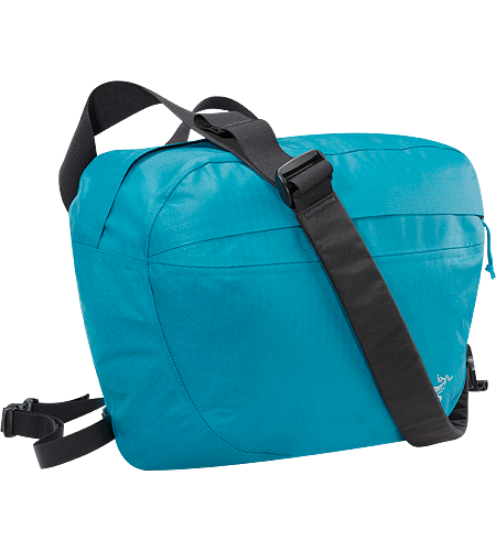 "Lunara 10 Weather resistant AC² shoulder bag with front pocket, retention strap for documents, tablet device, or up to 13"" laptops, padded back panel and shoulder strap, and removable waistbelt."