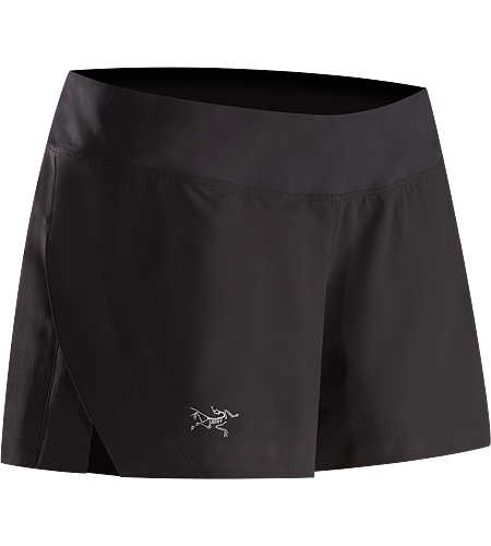 Lyra Short Women's Lightweight, versatile short with 3/4 length side slit, an inner brief liner and a wide stertch knit waistband with elastic drawcord for enhanced comfort and freedom of movement.