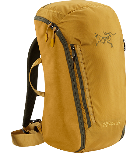 Miura 35 A 35 litre climbing bag for hauling gear, fully padded to provide structure and with full zipper access for easy removal and repacking.