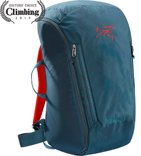 Miura 45 A 45 litre climbing bag for hauling gear, fully padded to provide structure and with full zipper access for easy removal and repacking.