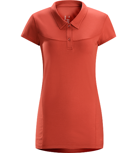 Motive Polo SS Women's Moisture-wicking polo shirt designed for indoor and outdoor activities.