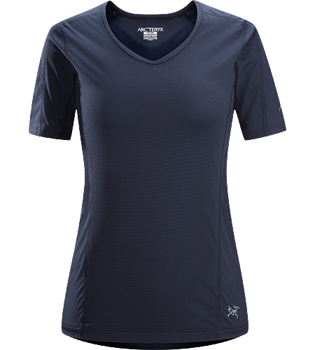 Motus Crew SS Women's Relaxed fit, short-sleeved, crew neck shirt constructed using Phasic™ Technology textile;  Ideal for high-output, stop-and-go activities.