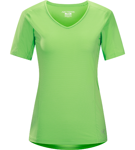 Motus Crew SS Women's Relaxed fit, short-sleeved, V-neck shirt constructed using Phasic™ Technology textile;  Ideal for high-output, stop-and-go activities.