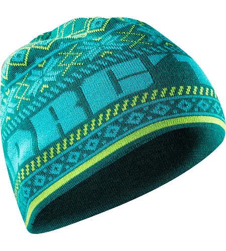 Nordiq Hat Men's Wool/acrylic blend beanie with bold, colourful details