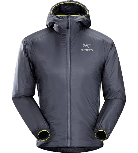 Nuclei Hoody Men's Lightweight, compact, trim fitting Coreloft™ insulated belay jacket delivering exceptional warmth for very little weight.