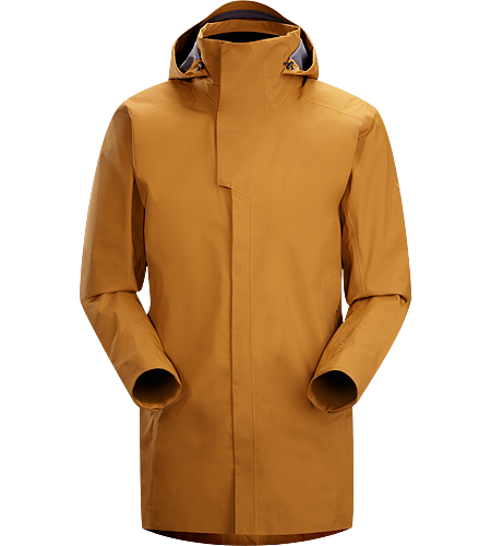 Parsec Coat Men's Three-quarter length, brushed interior windproof waterproof/breathable GORE-TEX® long coat with urban style and technical performance.