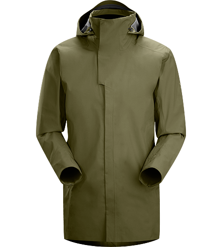 Parsec Coat Men's Three-quarter length, brushed interior windproof waterproof/breathable GORE-TEX® soft shell long coat