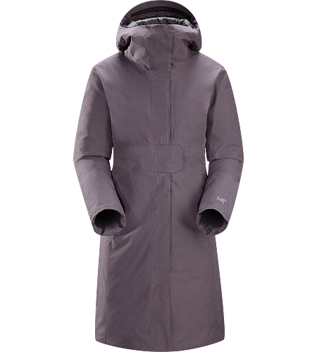 Patera Parka Women's Women's specific, waterproof/windproof GORE-TEX® insulated three-quarter length hooded parka with down insulation.