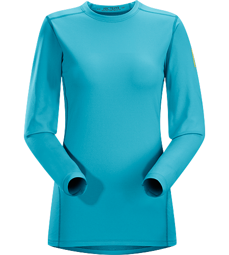 Phase AR Crew LS Women's Phase Series: Moisture wicking base layer | AR: All-Round. Lightly-insulated, moisture-wicking, base layer, designed for aerobic use during cooler conditions.