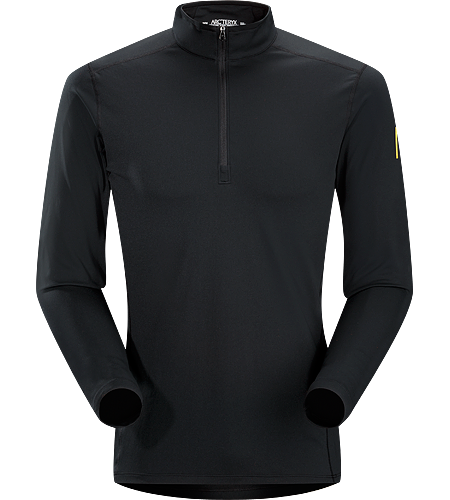 Phase AR Zip Neck LS Men's Phase Series: Moisture wicking base layer | AR: All-Round. Lightly insulated, zip-neck base layer, designed for use during aerobic activities in cooler conditions.