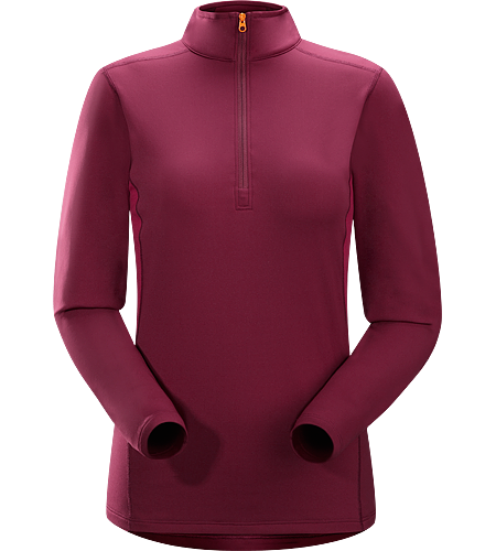Phase SV Zip Neck LS Women's Phase Series: Moisture wicking base layer | SV: Severe Weather. Moisture-wicking base layer, constructed using odour-control fabric; Ideal as mid-level insulation during stop-and-go activities.