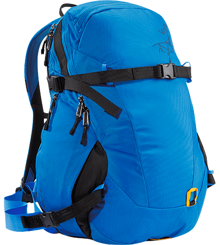 Quintic 28 Comfortable, robust backpack with contoured back panel and ski/snowboard wrap system; Ideal for every day use and backcountry day tours