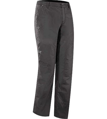 Renegade Pant Men's Lightweight canvas travel pants designed with subtle articulation for increased freedom of movement