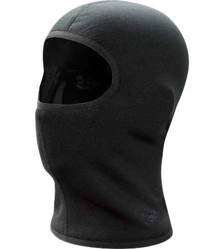 Rho AR Balaclava Full face coverage balaclava constructed with lightly insulated, Polartec Power Stretch textile