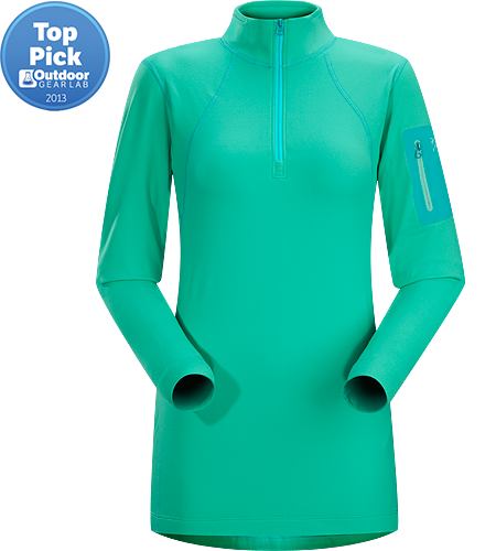 Rho LT Zip Neck Women's Lightweight, moisture-wicking base layer shirt with odour-control fabric.