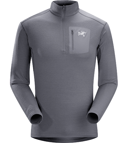 Rho LTW Zip Neck Men's MAPP Merino wool base layer jersey. Rho LTW layers provide a close-fitting garment that maintains its shape and aids in transferring moisture away from the body.