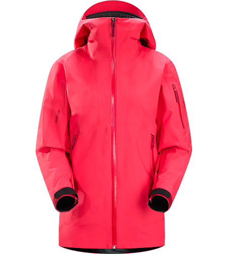 Sentinel Jacket Women's Relaxed fitting, waterproof, breathable GORE-TEX® jacket with helmet compatible Storm Hood™ and a Slide 'n Loc™ snap system links the integrated powder skirt to pants in deep snow.