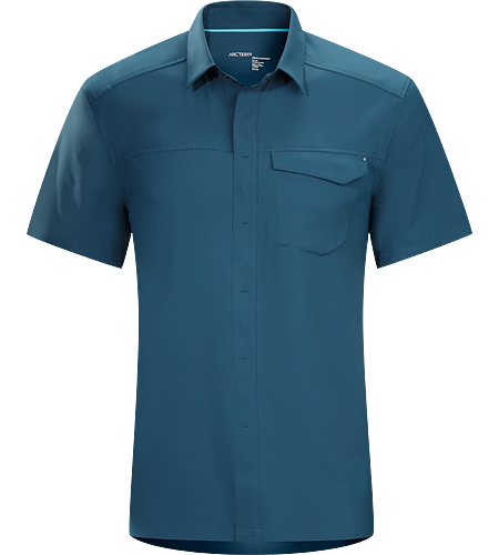 Skyline Shirt SS Men's Super light, breathable short sleeve shirt with a standard button collar and a soft feel, perfect for warm, summer days.