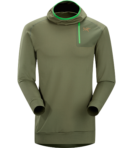 Stryka Hoody Men's A trim fitted, cold weather, base layer with a balaclava style hood