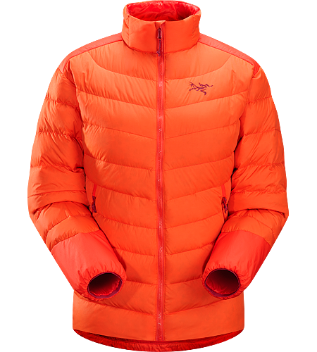 Thorium AR Jacket Women's Down Series: Down insulated garments | AR: All-Round. Generalist down jacket made from durable face fabrics and 750 fill grey goose down. Functions as a warm mid layer or standalone piece for cool, dry conditions.