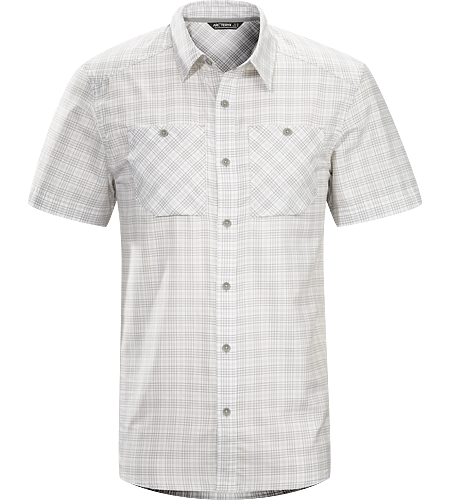 Tranzat Shirt SS Men's Plaid short sleeve, button down shirt constructed with a premium quality wool/cotton blend fabric; ideal for travelling and everyday life.