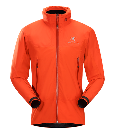 Zeta LT Hybrid Jacket Men's Lightweight, waterproof, breathable GORE-TEX® hooded jacket for emergency storm protection.