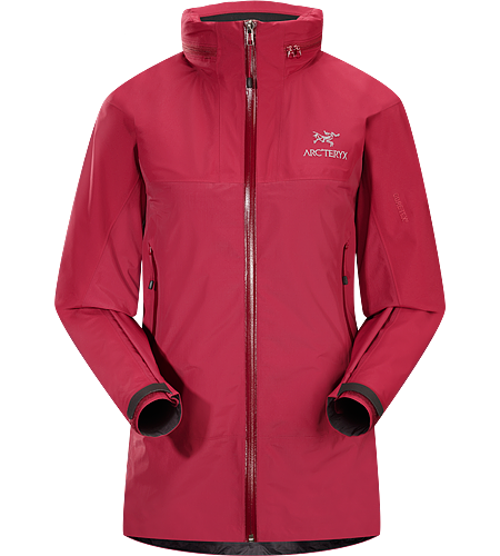 Zeta LT Hybrid Jacket Women's Light weight and packable, waterproof/breathable jacket for emergency storm protection, has stowable hood and is reinforced with 3L GORE-TEX®.