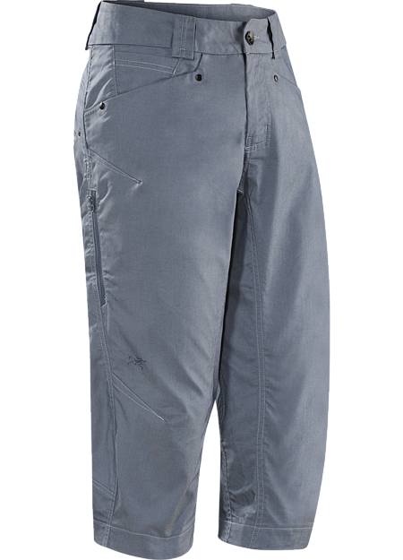 A2B Commuter Long Men's Denim-inspired water repellant, quick drying,  longer inseam crop short with hidden reflective elements for commuters.