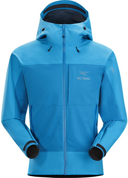 Alpha Comp Hoody Men's Composite construction jacket with versatile thermal management and zonal weather protection in a single garment. Alpha Series: Climbing and alpine focused systems.