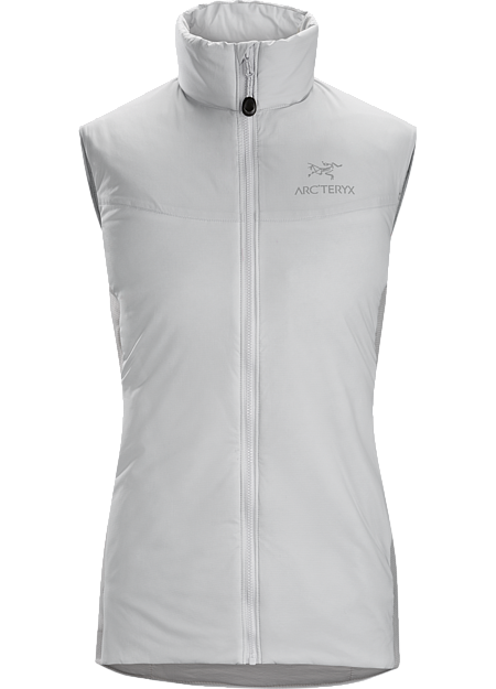 Atom LT Vest Women's Lightweight, insulated Coreloft™ vest, designed to preserve core warmth; ideal as a layering piece for cold weather activities. Atom Series: Synthetic insulated mid layers | LT: Lightweight.