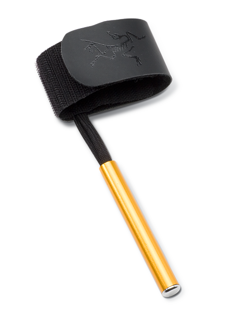 Axe Keeper with Dongle Quick release Velcro® strap with metal attachment device for attaching ice axes