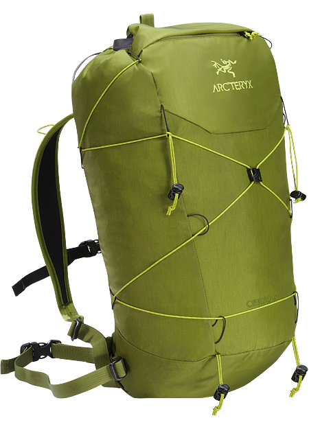 Cierzo 18 Backpack Superlight 18L summit pack for multi-pitch rock, alpine and ice climbing routes.