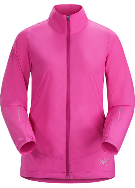 Cita Jacket Women's Lightweight, minimalist jacket for high output mountain training in light precipitation and cool, windy conditions.