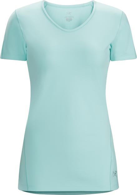Ensa SS Women's Midweight, quick drying, moisture wicking short sleeve technical T-shirt. Designed for active mountain sports in cool conditions.