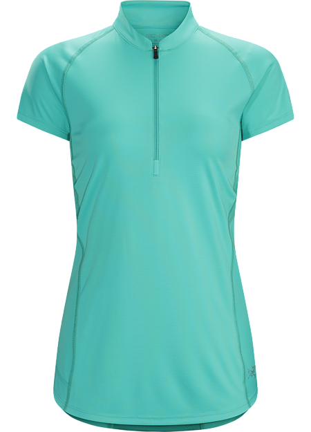 Kapta Zip Neck SS Women's Women's zip-neck technical tee combines soft Endogauge™ fabric with Endoligh™ mesh for comfort and moisture management during high output training on hot days.