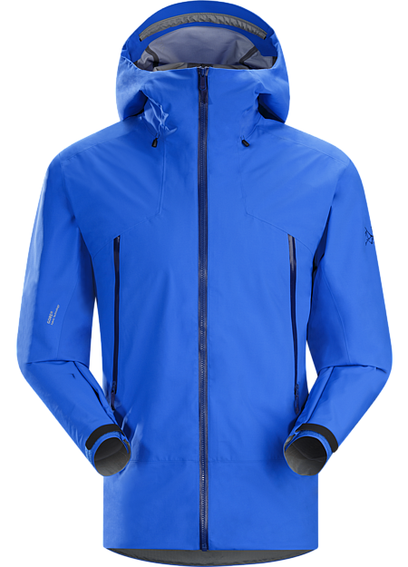 Lithic Comp Jacket Men's Composite fabric technology merges Arc'teryx developed Trusaro™ softshell stretch and air permeability with waterproof GORE® Fabric Technology for zonal weather protection in a backcountry jacket uniquely created for ascents, descents and transitions.